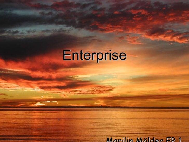 Enterprise Marilin Mölder EP 1