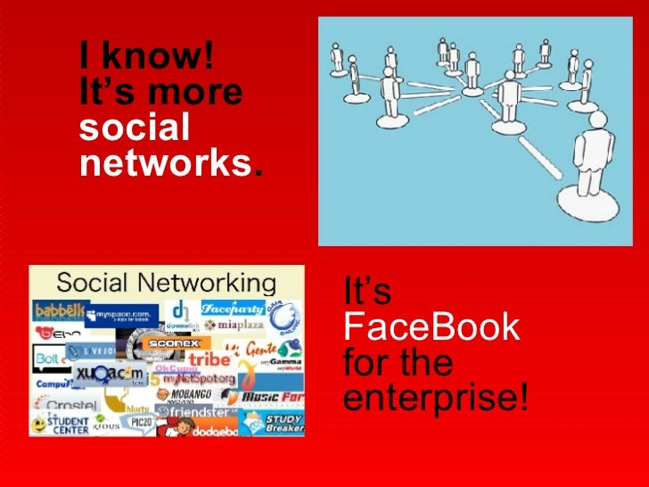 I know!  It's more  social networks . It's  FaceBook  for the enterprise!