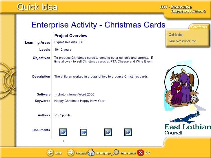 Documents Authors P6/7 pupils To produce Christmas cards to send to other schools and parents.  If time allows - to sell C...