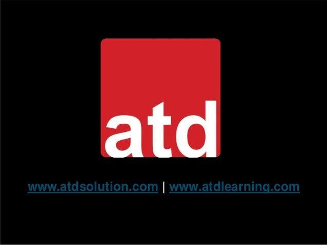www.atdsolution.com | www.atdlearning.com
