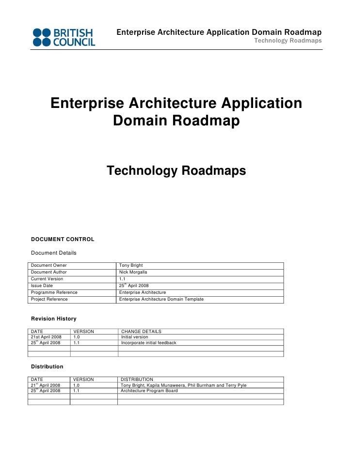 Enterprise Architecture Application Domain Roadmap                                                                        ...