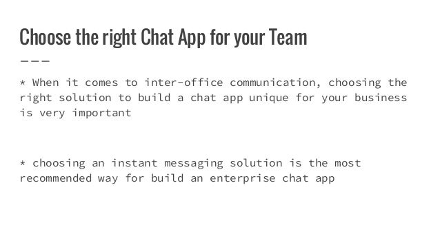 Enterprise chat app for team communication – Inter Office Communication