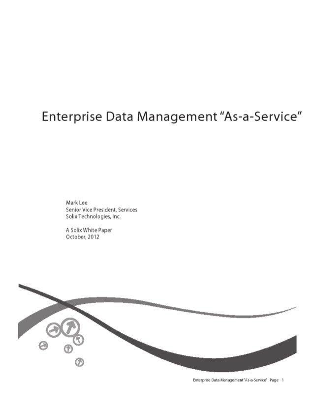 Enterprise data-management as-a-service