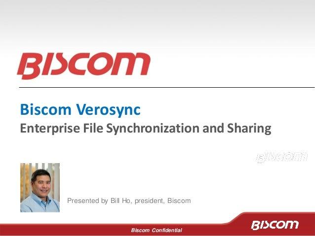 Enterprise File Synchronization and Sharing - Biscom Verosync