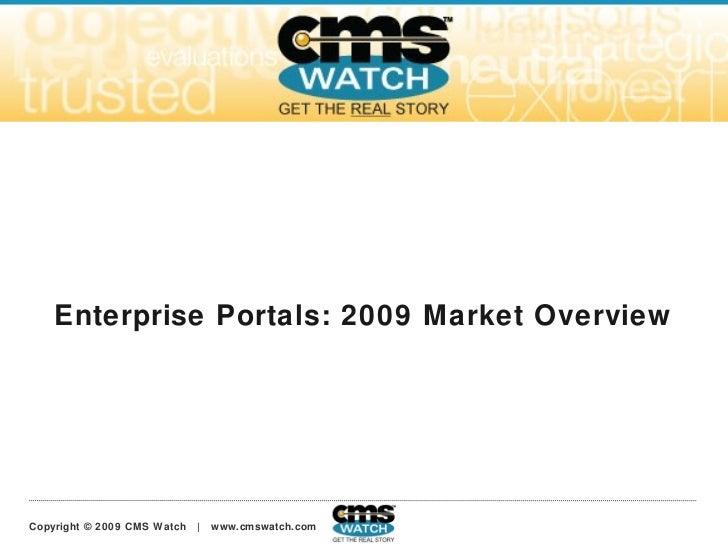 Enterprise Portals: 2009 Market Overview