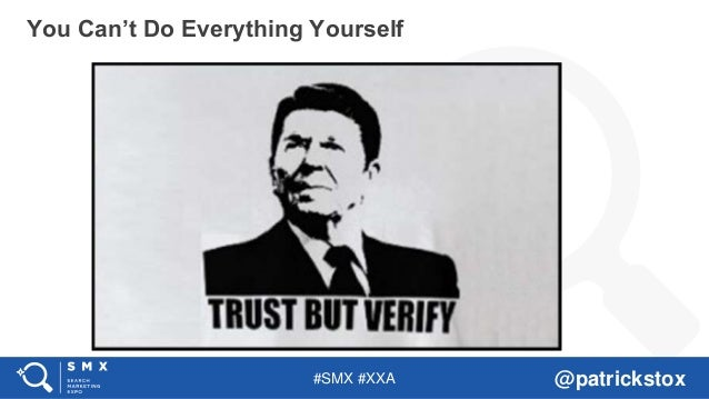 #SMX #XXA @patrickstox You Can't Do Everything Yourself