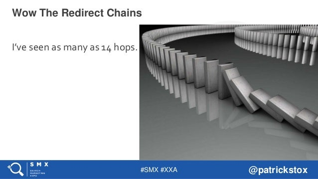 #SMX #XXA @patrickstox I've seen as many as 14 hops. Wow The Redirect Chains
