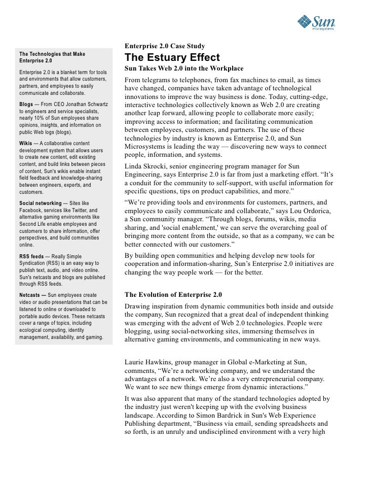 Enterprise 2.0 @ Sun Microsystems Slide 3