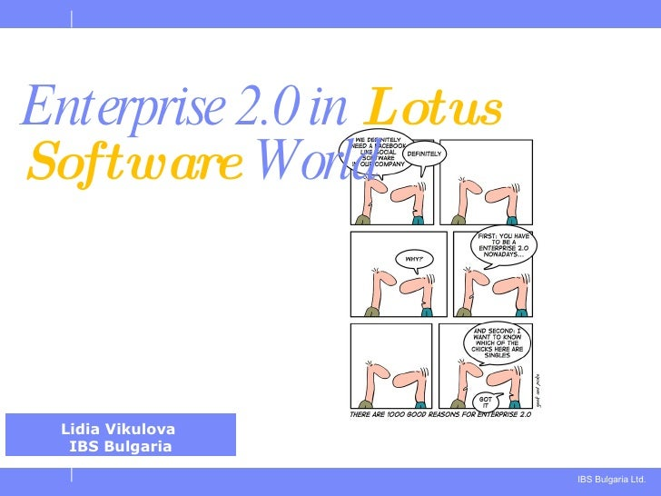 Enterprise 2.0 in  Lotus Software  World Lidia Vikulova  IBS Bulgaria