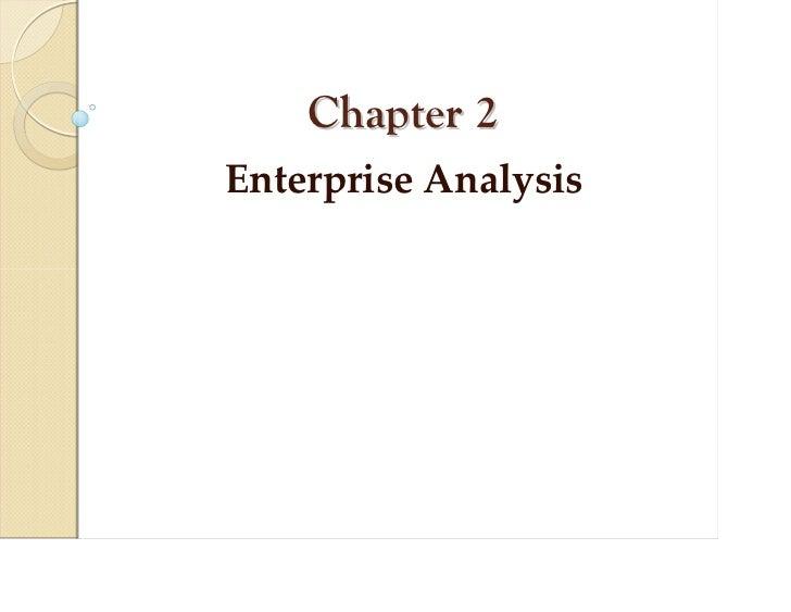 Chapter 2EnterpriseAnalysis