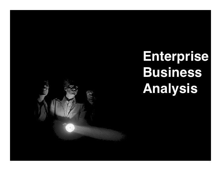 Enterprise Business Analysis