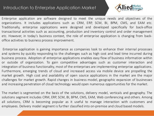 Enterprise Application Market Solutions Delivery Model Verticals A