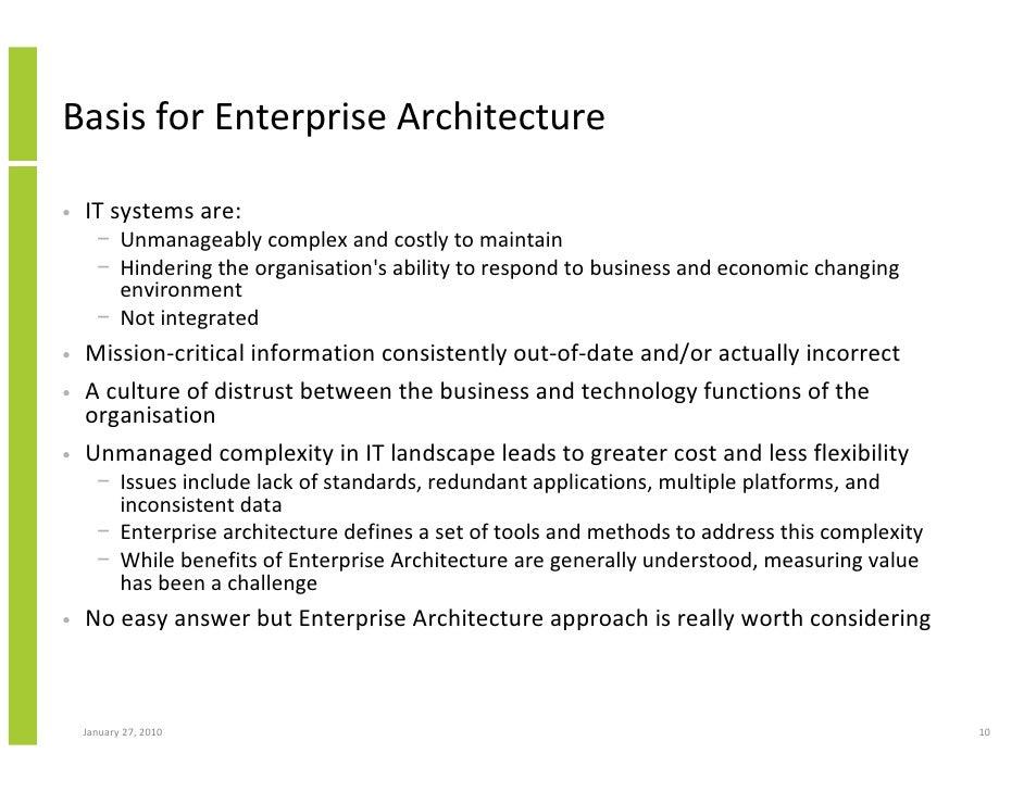 ... 10. Basis For Enterprise Architecture ...