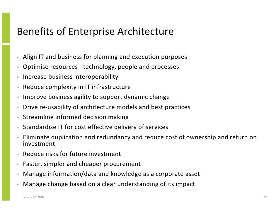 Bon Benefits Of Enterprise Architecture ...