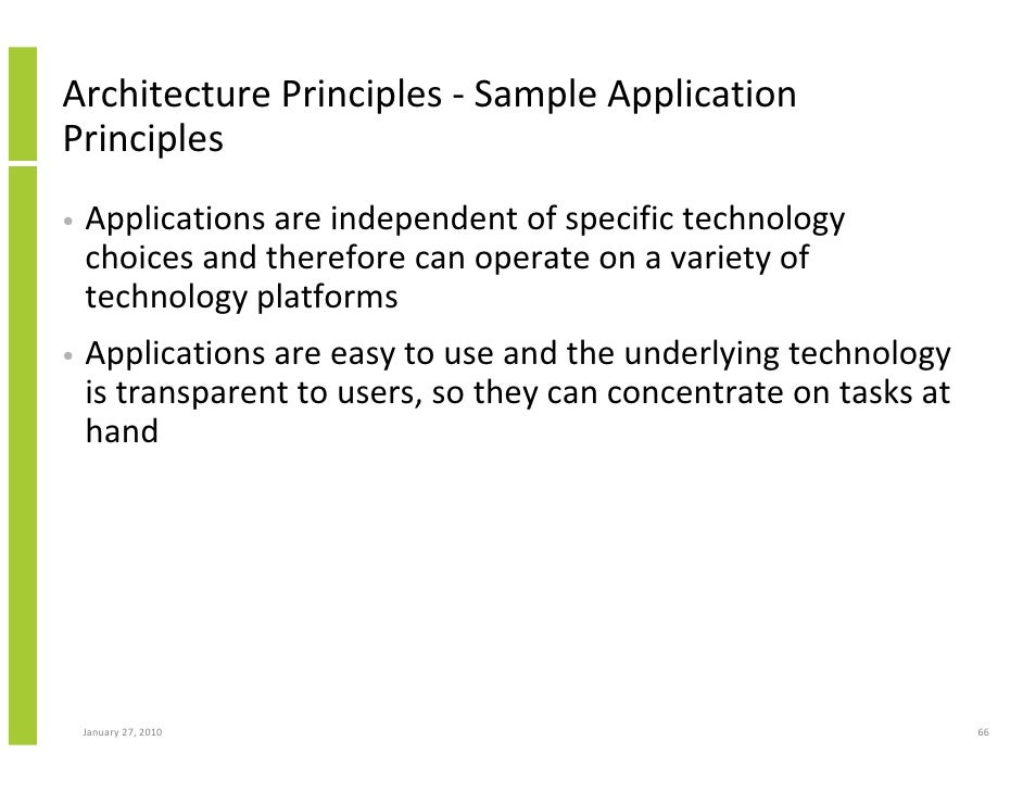Architecture Principles ...