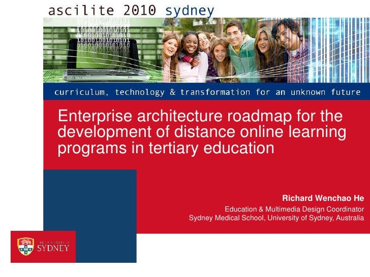 Enterprise architecture roadmap for the development of distance online learning programs in tertiary education
