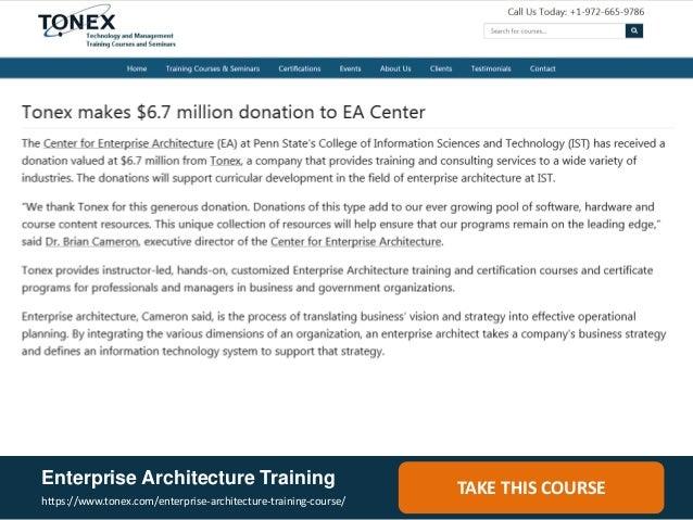 Enterprise Architecture Training ...