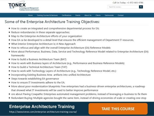 Enterprise Architecture Training ...