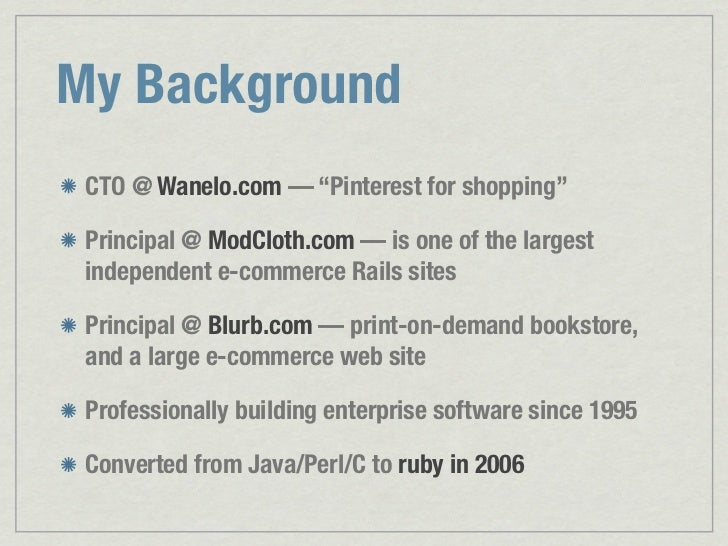 Enterprise Architectures with Ruby (and Rails) Slide 2