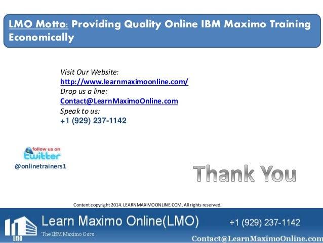 enterprise asset management roadmap ibm maximo lmo