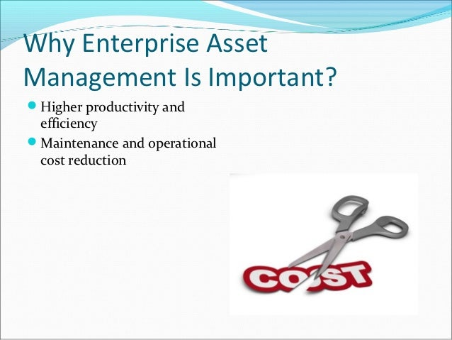 Why Enterprise AssetManagement Is Important?Higher productivity and efficiencyMaintenance and operational cost reduction