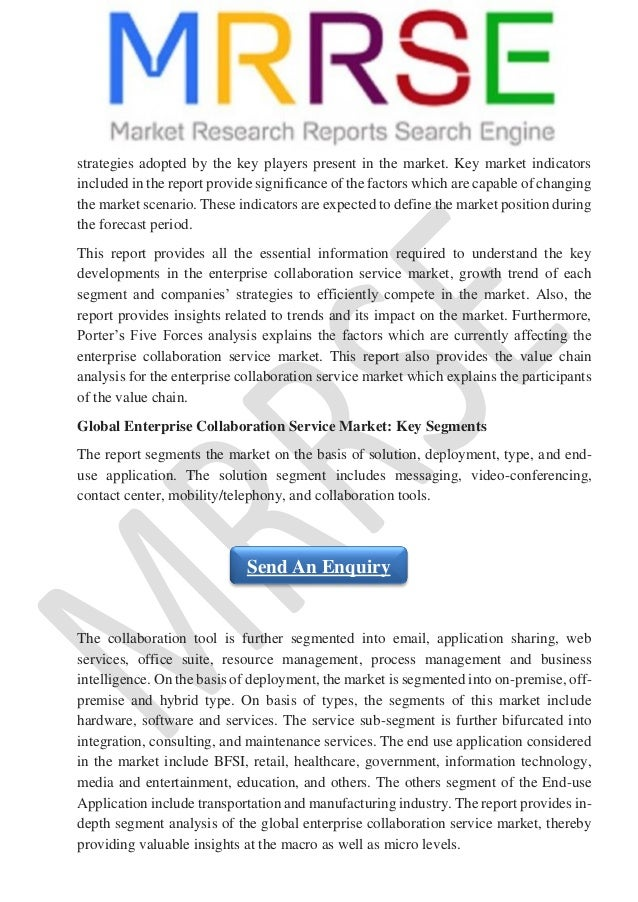 Enterprise Collaboration Service Market - Global Industry Analysis, S…