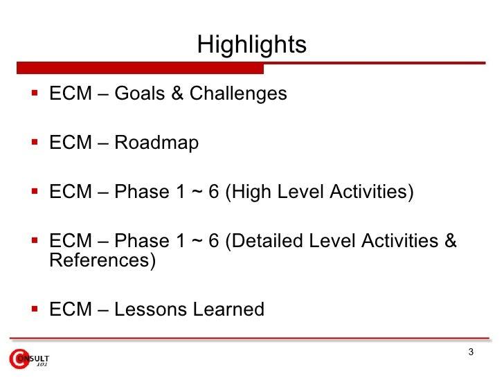 Enterprise Content Management (ECM) System Slide 3