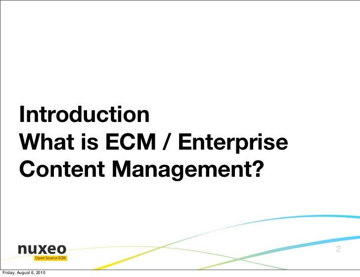 Enterprise content management meets open source linux con