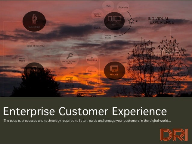 CUSTOMEREnterprise Customer ExperienceThe people, processes and technology required to listen, guide and engage your custo...