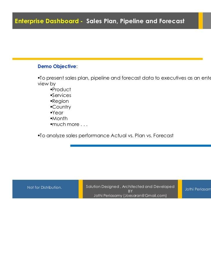 Enterprise Dashboard - Sales Plan, Pipeline and Forecast                                   In SAP BPC, BW & BOBJ          ...