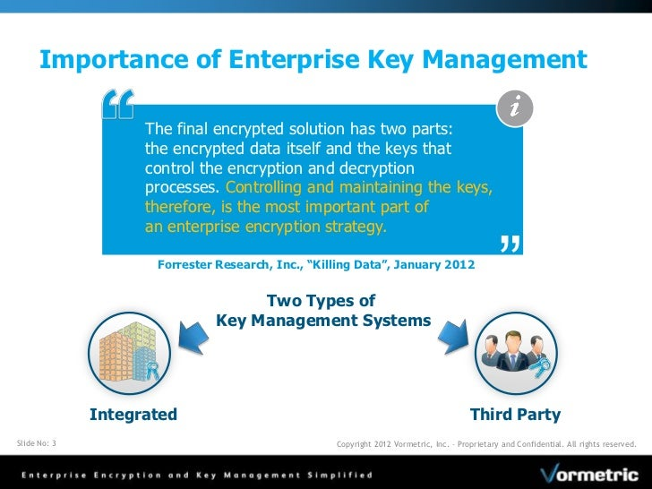 Security Policy and Key Management: Centrally Manage Encryption Keys …
