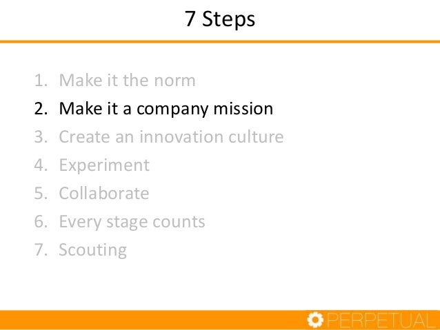 Step 2: Company Mission • Should be part of your company mission statement • An executive champion who believes the new id...
