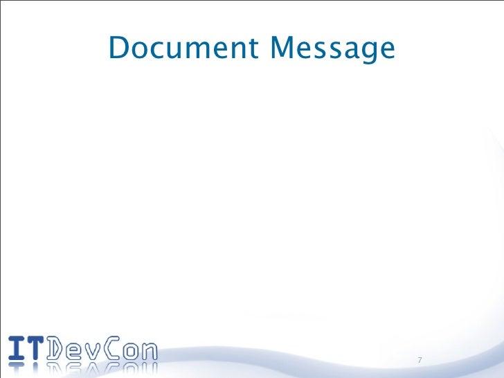 Document Message                        7