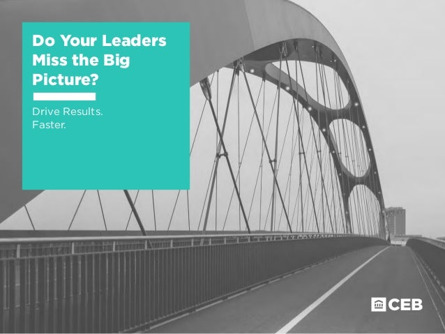 Do Your Leaders Miss the Big Picture? Drive Results. Faster.