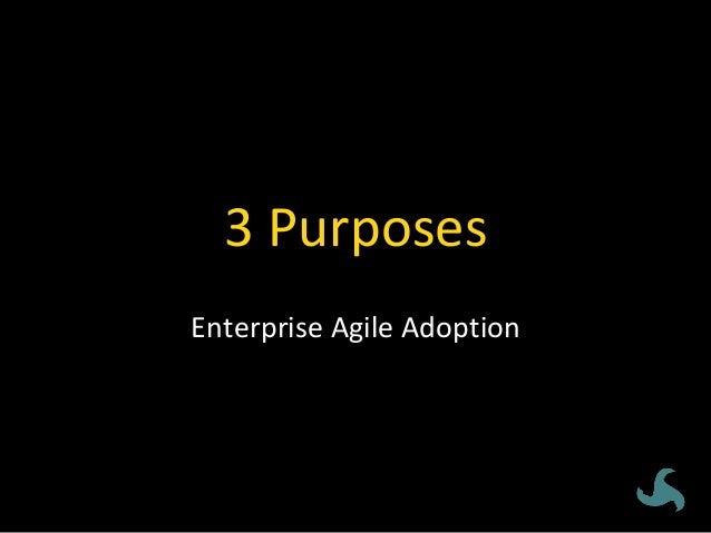 ENVIRONMENTAL  Purposes:enterpriseagileadoption