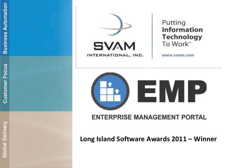 Long Island Software Awards 2011 – Winner