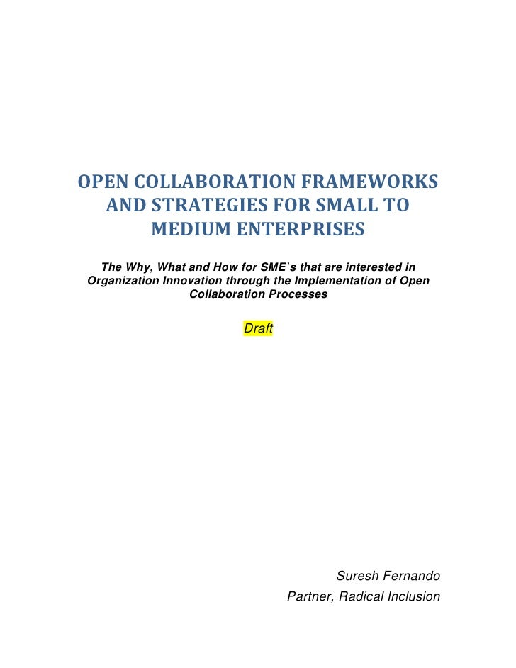 Enterprise Open Collaboration Draft