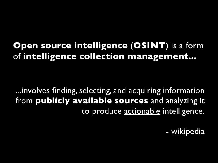 Enterprise Open Source Intelligence Gathering Slide 3