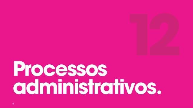 Processos administrativos. 12
