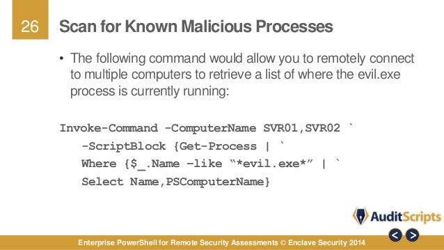 Enterprise PowerShell for Remote Security Assessments