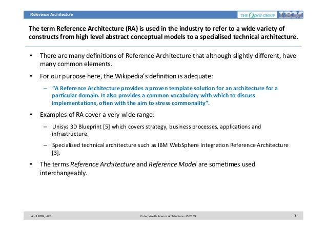 Enterprise reference architecture v11ppt malvernweather Image collections