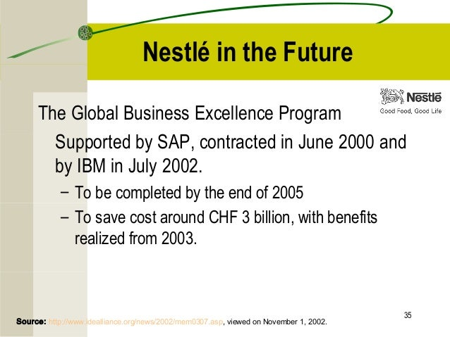 "an analysis of nestles erp odyssey Nestlé and nike: how they almost  structures would mean very prolonged planning and analysis of their core  erp odyssey"", cio."