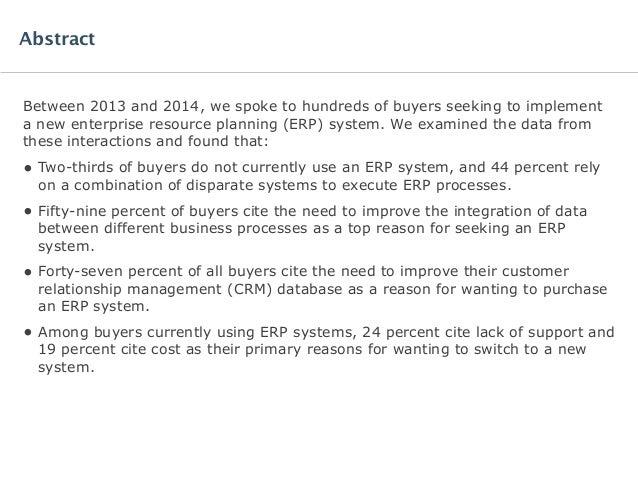 Software Advice BuyerView: Enterprise Resource Planning Software Report 2015 Slide 2