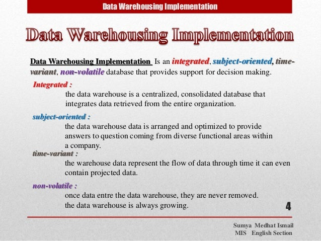 a critique of data warehousing in enterprise resource planning systems There are several things to consider when planning the evolution of a data warehouse some of these are obvious, while others are often overlooked the most obvious area given much attention to is scalability of the technical platform.