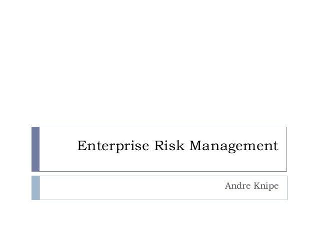 Enterprise Risk Management Andre Knipe