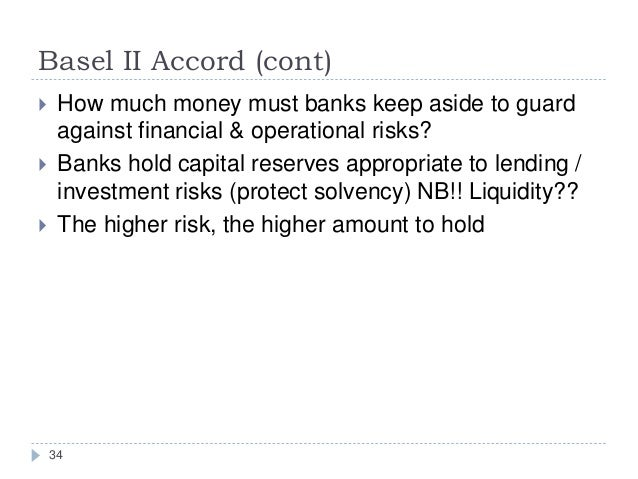 basel accord case • basel committee on banking supervision (1988): international convergence of capital measure¬ment and capital standards, basel, july 1988 • basel committee on banking supervision committee (1996): amendment to the capi-tal ac¬cord to incorporate market risks, basel, january 1996.