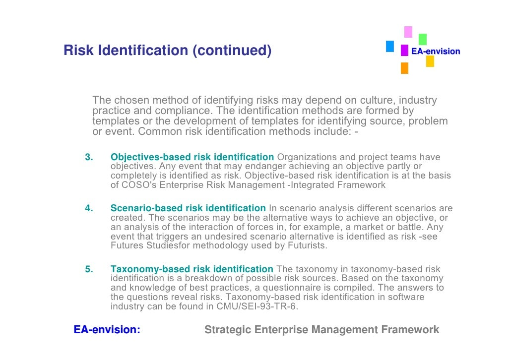 enterprise risk management Enterprise risk management (erm) is the process of planning, organizing, leading, and controlling the activities of an organization in order to minimize the effects of risk on an organization's capital and earnings.
