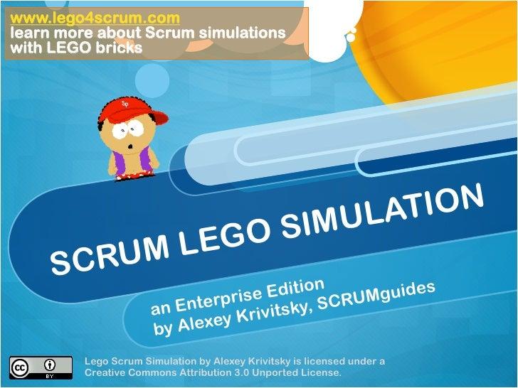 www.lego4scrum.comlearn more about Scrum simulationswith LEGO bricks                                                ULATIO...