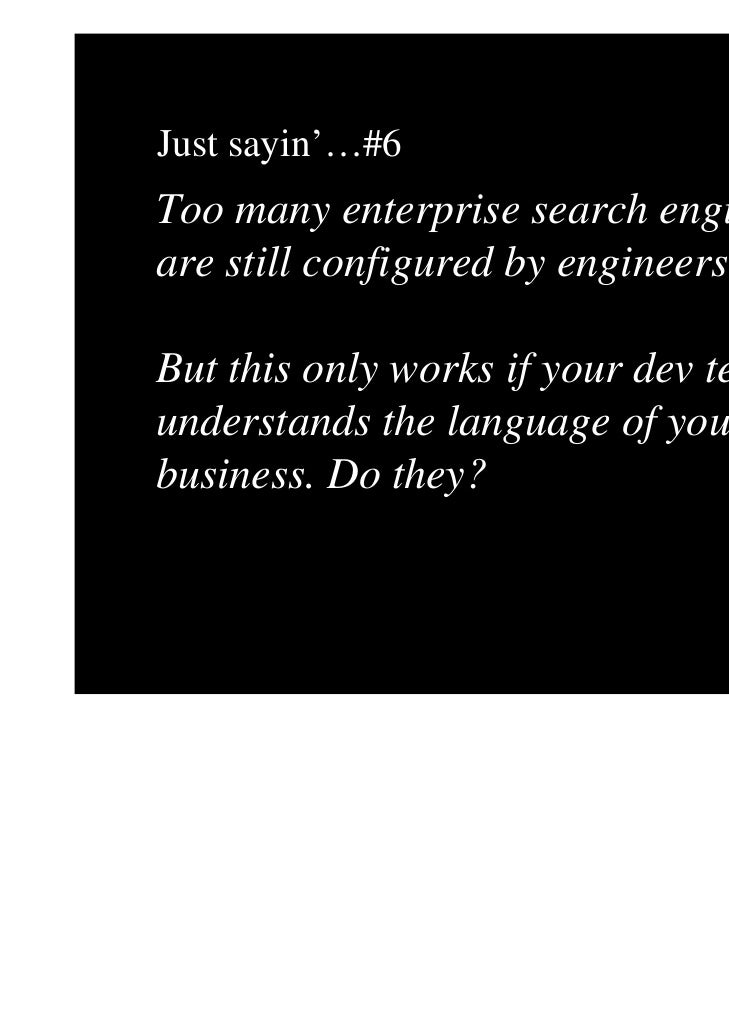 The dumbing down of intelligent search