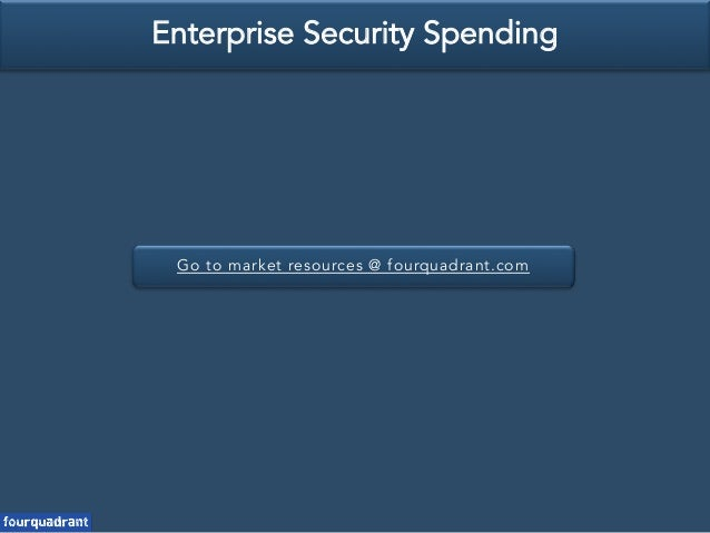Go to market resources @ fourquadrant.com Enterprise Security Spending